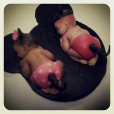 Mini babies cake toppers