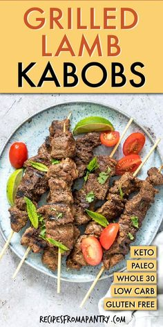 Grilled Lamb Kabobs are full of great Middle Eastern flavor. Made with an easy and aromatic Mediterranean marinade, lamb kabobs are light, healthy and satisfying and just thing for serving up all summer long! Click through to get this awesome recipe! Easy Potluck Recipes, Healthy Potluck, Kabob Recipes, Best Dinner Recipes, Lunch Recipes, Meat Recipes, Summer Recipes, Healthy Grilling, Camping Recipes