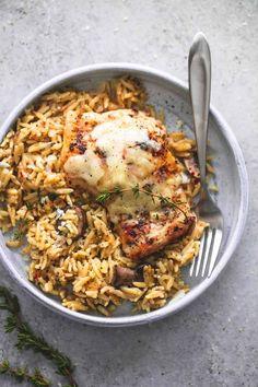 slow Cooker Parmesan Herb Chicken & Orzo from lecremedelacrumb.com   nourishedplanner.com