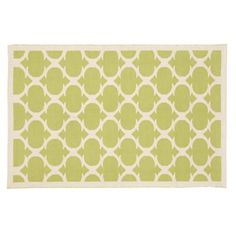 Kids' Rugs: Kids Green Woven Cotton Rug