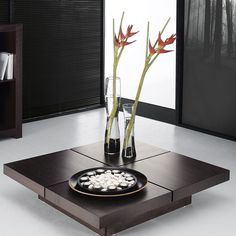 Kyoto 4 Tops Coffee Table Choco  by Temahome