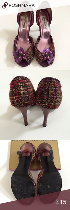 7ad425d770a1 Steve Madden Peep Toe Pumps The prettiest purple tweed peep toe pumps!  These shoes will