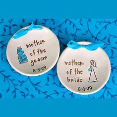 Mother of the Bride & Groom Wedding Keepsake Bowls by SayYourPiece, $38.00