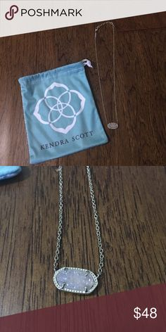 Kendra Scott necklace Kendra Scott necklace with white/natural druzy stone Kendra Scott Jewelry Necklaces