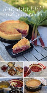 "Knäckig rabarberpaj med toscatäcke. Pajen med ""Extra allt!"" - Helena Lyth Rustic Cake, New Cake, Rhubarb Pie, Swedish Recipes, Pie Dessert, Baking Recipes, Cake Recipes, Baked Goods, Fika"