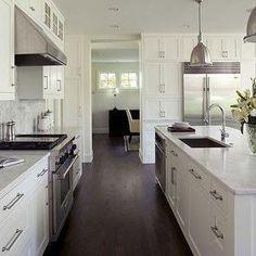 layout, walnut floors, undermount sink