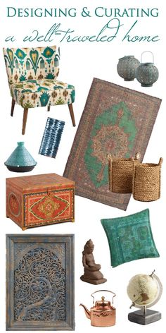 Designing and Curating a Well-Traveled Home via Atta Girl Says for Cost Plus World Market www.worldmarket.com #FallHomeRefresh