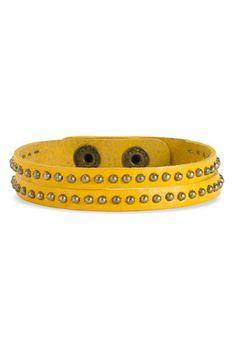 $10 Carole Studded Double Strand Leather Bracelet