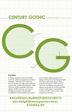 Type Specimen by Danielle House, via Behance  One of my favorites