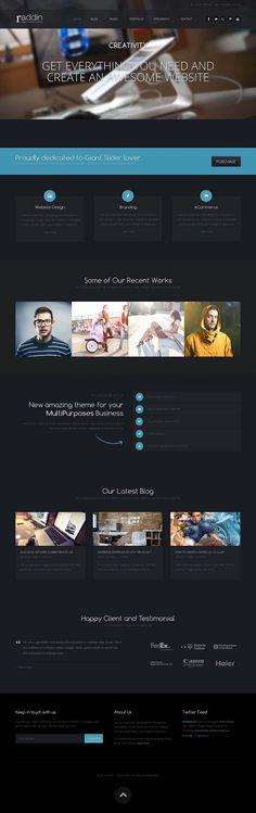 Raddin - Responsive #Bootstrap #Joomla Template for Businesses