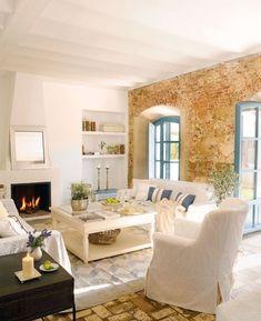 SALONES EN CASAS DE CAMPO (SALAS) Hola Chicas!!! Les dejo algunas ideas de como decorar una casa de campo (pueblo) son decoraciones de salas (salones) donde se respeta arquitecura original