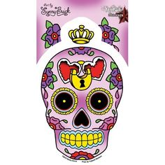 dead of the dead sugar skull decal $3.50