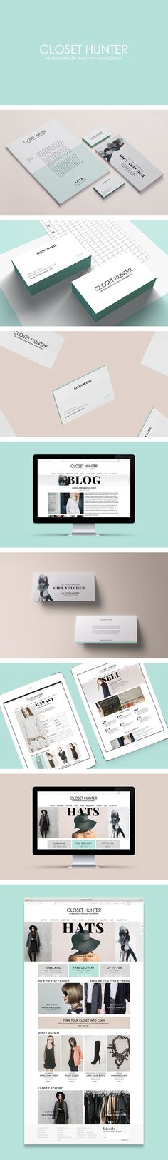 Closet Hunter branding by Smack Bang Designs #Branding #BusinessCards #Stationary #Website #GraphicDesign #SmackBangDesigns