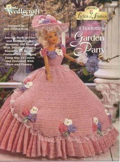 Barbie Crochet, Charlotte's Garden Party, pattern http://knits4kids.com/collection-en/library/album-view?aid=8028
