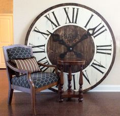 Large clock on the floor.                                                                                                                                                                                 More
