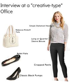 The Workette: The Job Interview Outfit for a Creative Office Job Interview Outfits For Women, Interview Clothes, Interview Dress, Interview Advice, Job Interviews, Office Fashion Women, Work Fashion, Women's Fashion, Business Casual Outfits