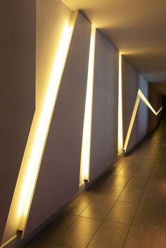 Office Interior Design, Interior Walls, Office Interiors, Interior Lighting, Lighting Design, Corridor Design, Wall Decor Design, Home Ceiling, Lobby Design