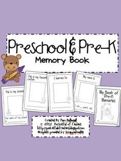 Preschool  Pre-K Memory Book $1.50#Repin By:Pinterest++ for iPad#
