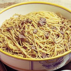 Delicious Umbrian Spaghetti With Black Truffles.