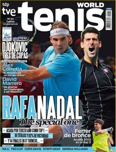 Rafa Nadal: The Special One! World No. 1 and Novak Djokovic grace the cover of new issue of 'Tenis World' Magazine!