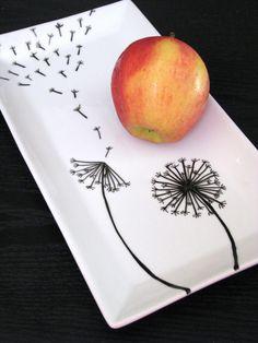 Коллекция простых  идей росписи посуды