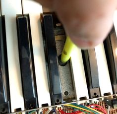 MATRIXSYNTH: How to Fix Dead Keys on a Synth with Tape and a Ce...