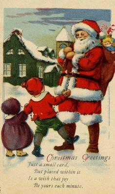 ️Antique Santa Claus postcard