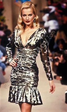 Karen Mulder for YSL Couture 1995