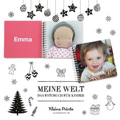 """Wir haben das erste Fotobuch speziell für Kinderhände. """"Meine Welt"""", jetzt im Shop!"""