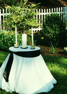 My Unity Candle Table set-up | My completed projects ...