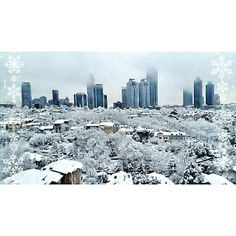 Snow over Istanbul, Levent