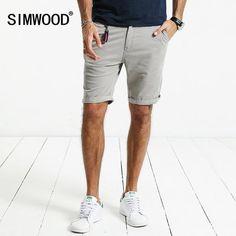 FuzWeb:SIMWOOD Summer New Shorts Men Slim Fit Cotton High Quality Clothing KD5047