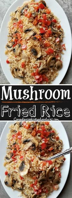 Fried Rice Mushroom Fried Rice, skip the takeout! Mushroom Fried Rice, skip the takeout!Mushroom Fried Rice Mushroom Fried Rice, skip the takeout! Mushroom Fried Rice, skip the takeout! Fun Easy Recipes, Quick Dinner Recipes, Side Dish Recipes, Vegetarian Recipes, Easy Meals, Healthy Recipes, Rice Recipes, Chinese Vegetables, Mixed Vegetables
