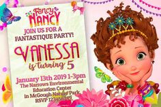 Fancy Nancy Birthday Party Invitations - partyandcraftsupplies.com birthday invitation, birthday party supplies, disney fancy nancy, fancy nancy, fancy nancy birthday party, fancy nancy invitation, fancy nancy party, invitation, topper cake, video invitation 2nd Birthday Invitations, Fancy Nancy, A Day To Remember, For Your Party, Party Printables, Cake Toppers, Rsvp, Party Supplies, Birthday Parties