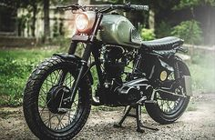 Written by Ian Lee. Royal Enfield motorcycles make a great platform for building custom bikes. Old school Brit styling, reliable single cylinder engines and factory spoke wheels. This is exa...