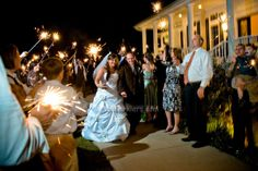 The 36 inch sparklers are a perfect match for  a sparkling exit! See them here: http://www.sparklersrus.com/Shipping-Information_ep_45-1.html