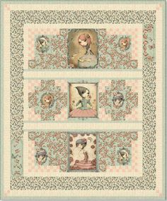Mirabelle by Santoro Quilt. FREE pattern and instructions.