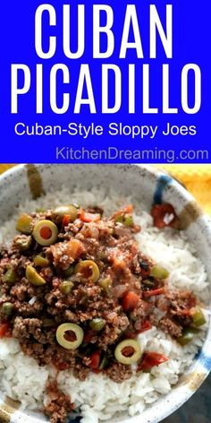 Cuban Picadillo is delicious, economical, comfort food. Similar to sloppy joes, this is a meal your whole family will enjoy. Cuban Picadillo, Cuban Dishes, Beef Dishes, Spanish Dishes, Meat Recipes, Mexican Food Recipes, Cooking Recipes, Gastronomia, Arroz Con Leche