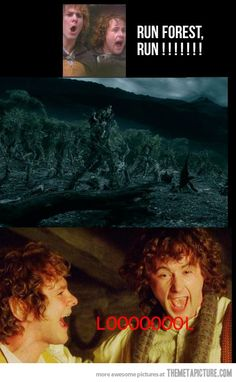I can't stop laughing!!!!! I laughed more than I should have at this. Troll Merry and Pippin #lotr