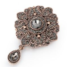 Women's Silver Flower Crystal Brooch $ 9.95 & FREE Shipping #brooches #jewelrynothers #jewelryoftheday #jewelrybox Women's Jewelry Sets, Jewelry Accessories, Fine Jewelry, Women Jewelry, Buy Crystals, Crystal Brooch, Crystal Flower, Silver Flowers, Arabesque