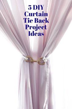 Make It: 5 DIY Curtain Tie Backs