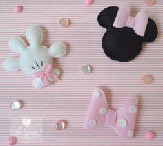 Jo Matarazzo- Ateliê: Veeem, 2014... Caixa Minnie! Mickey E Minnie Mouse, Mickey Mouse Crafts, Minnie Mouse Birthday Decorations, Felt Christmas Decorations, Felt Diy, Felt Crafts, Fabric Crafts, Sewing Crafts, Disney Diy