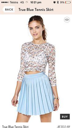 Nasty girl pleat skirt