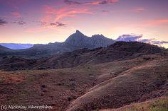 mountain valley with cloudy sky sunset by nickolay_khoroshkov, via Flickr