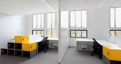 Open space dans les bureaux de Technip à Lyon, France