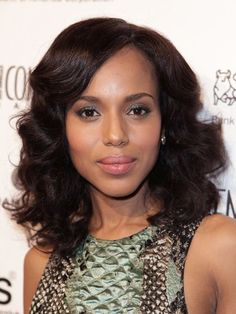 Kerry Washington's soft, feathered curls | allure.com