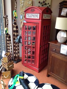 Gorgeous wooden telephone box - great for storage - built in shelves inside Built In Shelves, Built In Storage, Telephone, Box, Building, Buildings, Phone, Boxes