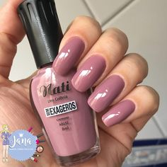 "ESMALTE ABUSE COLEÇÃO ""SEM EXAGEROS"" - NATI Gel Nail Polish Colors, Nail Polish Hacks, Nail Colors, Mauve Nails, Pink Nails, Fabulous Nails, Perfect Nails, Nail Jewelry, Manicure E Pedicure"