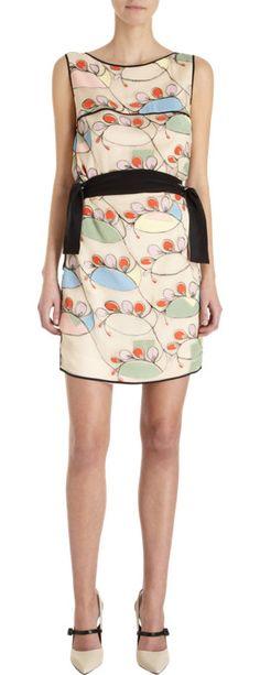 Fendi, Embroidered Sleeveless Shift