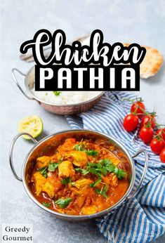 Chicken #Pathia is #chicken cooked in a spicy, sweet and sour sauce. Learn how to make this favourite at home for the fraction of the price. Click here! #chickenrecipes #dinner #dinnerrecipes #easydinner Indian Food Recipes, Asian Recipes, Healthy Recipes, Ethnic Recipes, East Chicken Recipes, Restaurant Recipes, Dinner Recipes, Dinner Ideas, Vegetable Curry